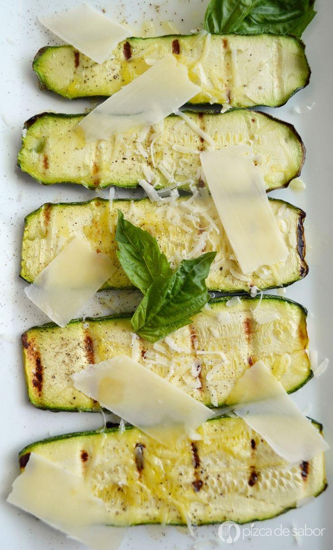 Calabacitas al parmesano www.pizcadesabor.com