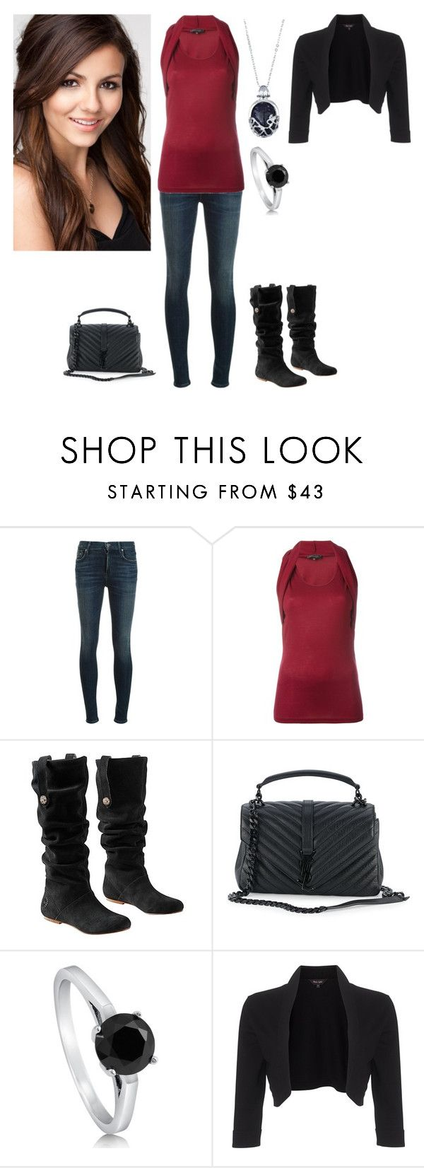 """""""Tori Vega"""" by charmedgreys ❤ liked on Polyvore featuring Barbara Bui, UGG Australia, Yves Saint Laurent, BERRICLE and Phase Eight"""