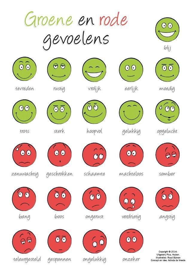 Adinda de Vreede, auteur van 'Teken je gesprek' en 'Helpende Gedachten', bedacht een slimme tool die iedere besteller deze week automatisch ontvangt. Op deze grappige kaart vind je zgn. groene en rode gevoelens; handig om in een gesprek een kind een gevoel te helpen benoemen. Lees hier meer over de titels van Adinda: http://www.uitgeverijpica.nl/auteurs/88-adinda-de-vreede: