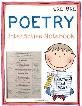 "This interactive notebook covers the following topics:  ~Poetry Features (refrain, rhyme scheme, stanza) ~How to analyze a poem using mentor texts ~How to annotate a poem using mentor texts ~Different types of poetry (couplet, tercet, quintet, haiku, cinquain, limerick, alliteration, diamante, shape poem, ""I Am"" poem) ~An example of directions for a final poetry booklet"
