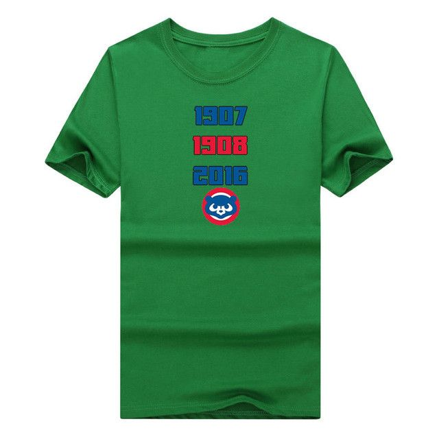 2017 Amazing Inspiring World Series Title Cubs Chicago T-Shirt 1907 1908 2016 Three times T shirt W1018006