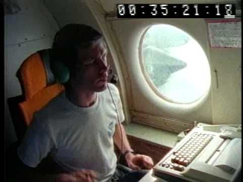 Flying through the eye of a hurricane - (9/13/88 Hurricane Gilbert)