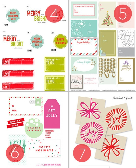 25 Free Printable Holiday Gift Tags