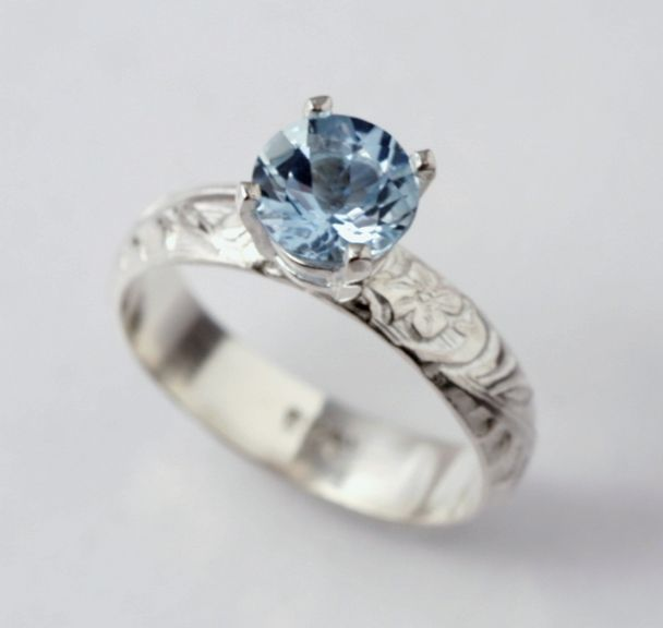 aquamarine_engagement_ring_by_soulstonedesignsjpg 608576 ohhh i love this one cute engagement ringsaquamarine - Cute Wedding Rings
