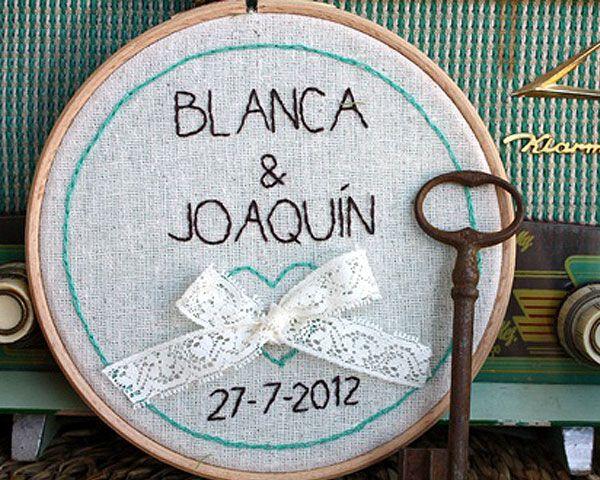 Decora tu boda con bastidores #boda #decoración #ideas