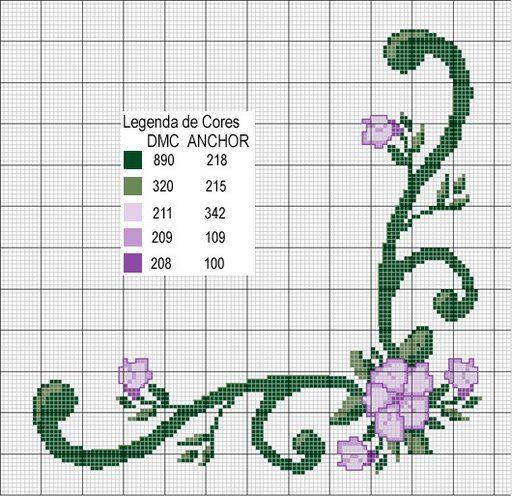Point de Croix : Grille Fleur dans Fleurs 080129041403178861658040