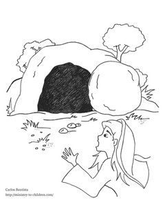 Mary at the Empty Tomb coloring page