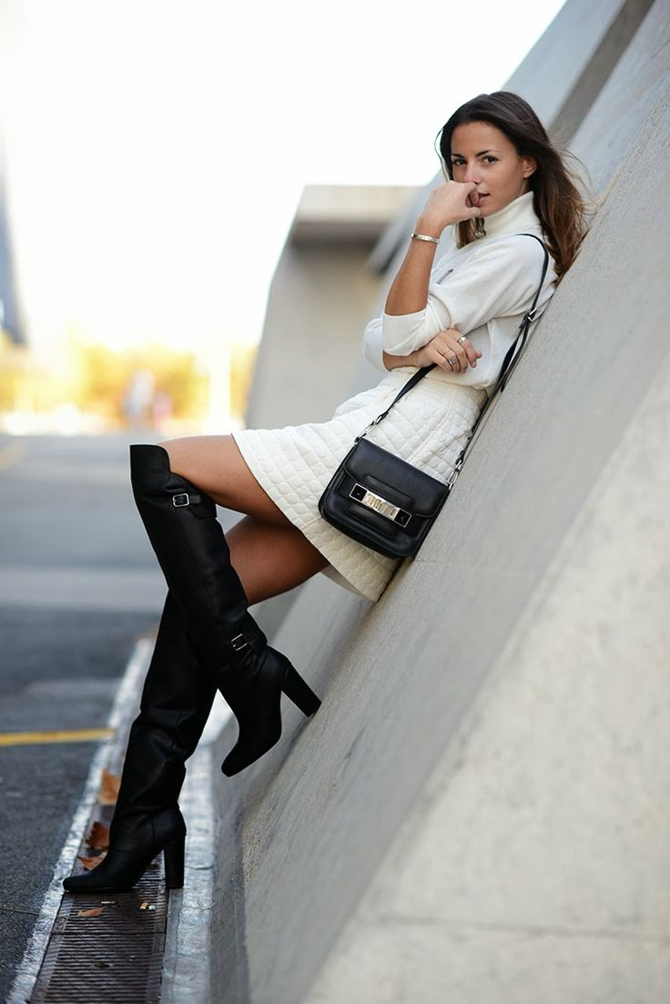 75 best images about Over knee boots- how to wear on ...