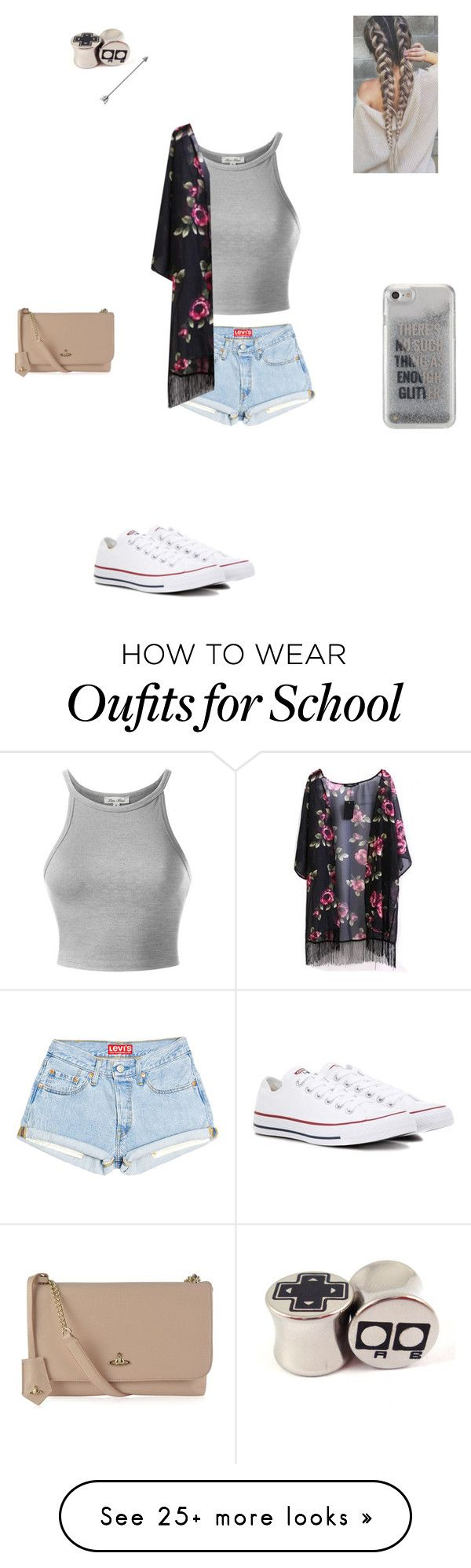 """""""Untitled #367"""" by tatumelizabethalexander on Polyvore featuring Converse, Agent 18 and Vivienne Westwood"""