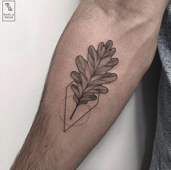 eikenblad en mooi patroon