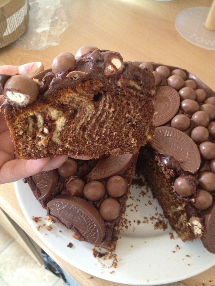 Chocolate orange zebra cake!