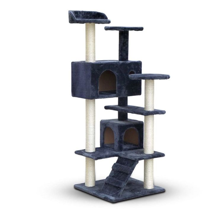 Cat Scratching Post Tree House Condo in Grey 134cm | Buy Home & Garden