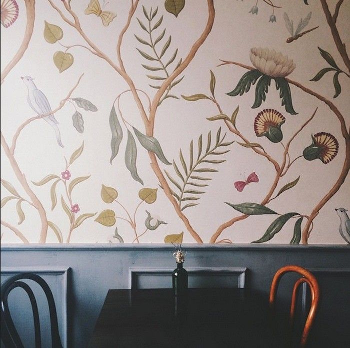 St Alban Coffee Charleston Wallpaper by Lewis Wood I Remodelista