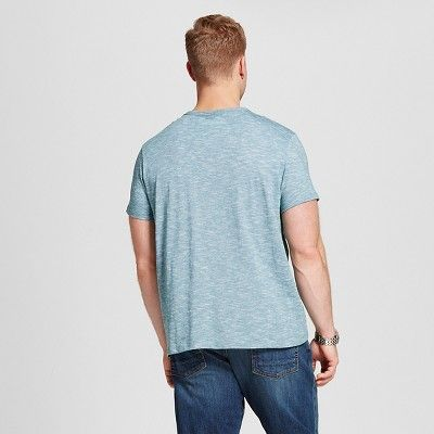 Men's Big & Tall V-Neck Jersey T-Shirt - Merona Teal (Blue) 2XB Tall, Size: 2XBT