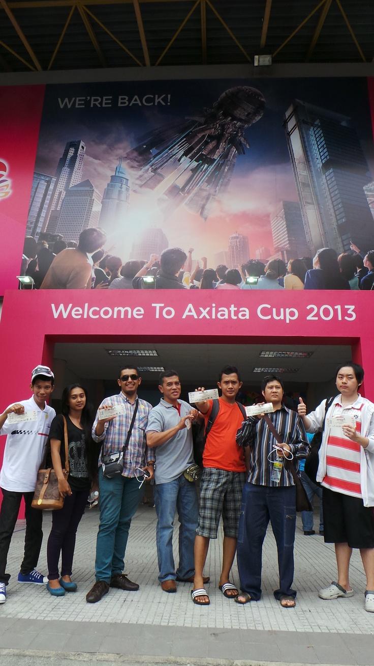 Axiata Cup Quiz Winners at Badminton Stadium, Kuala Lumpur
