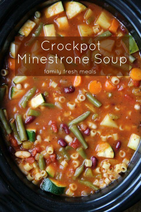 The Best Crockpot Minestrone Soup