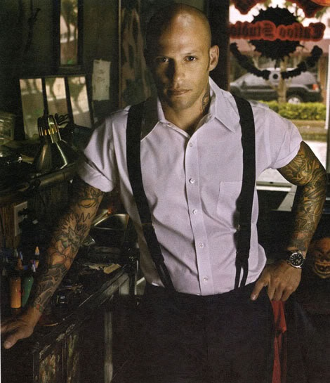Ami James, not only a great tattoo artist, but the only bald headed guy I find attractive haha. No joke!