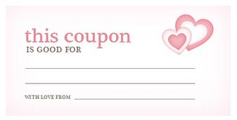 Valentines Day Coupon Template