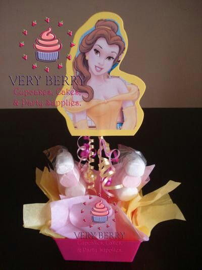 Disney princess Belle marshmallow centerpiece