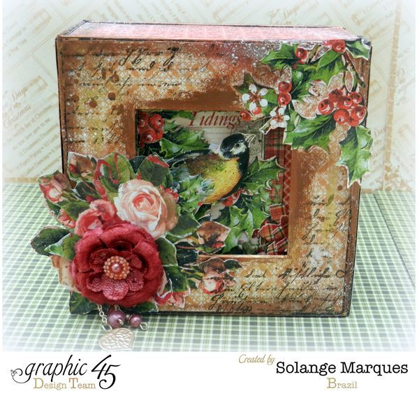 Graphic 45- Core dinations Cardstock- 12 days of Christmas Collection-mini album 5x5 Box By @solangemarques