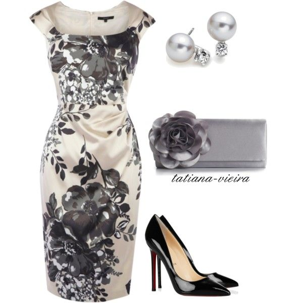 A fashion look from May 2012 featuring flower print dress, christian louboutin pumps and special occasion handbags. Browse and shop related looks.