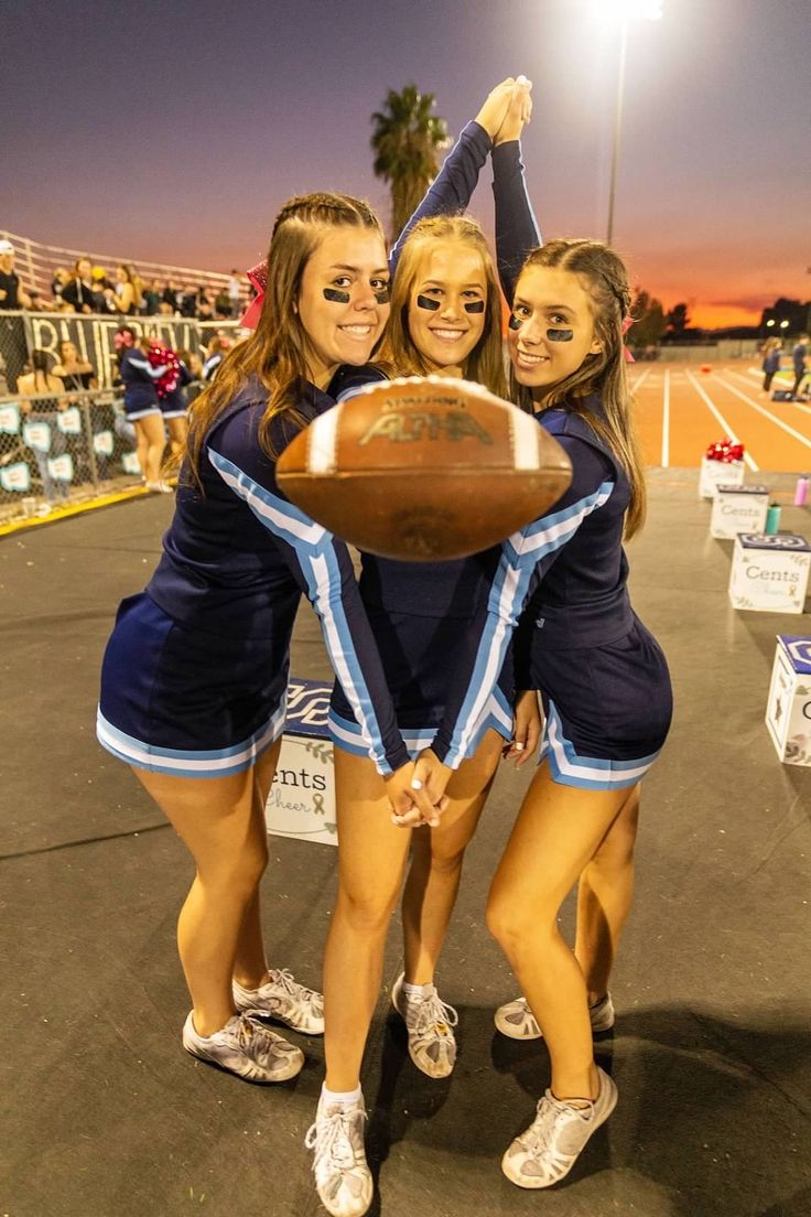 These girls are ready for football season Cheer pictures