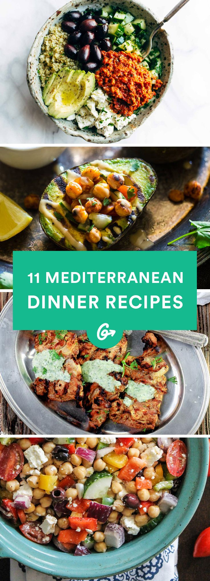 Health benefits aside, you should definitely try these flavorful dinner recipes. #mediterranean #dinner #recipes http://greatist.com/eat/dinner-recipes-healthy-mediterranean-recipes