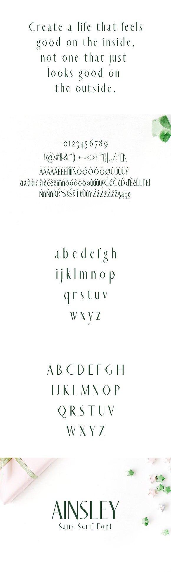 Ainsley Sans Serif Font. Professional Fonts