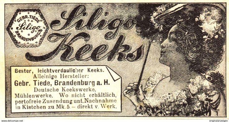 Werbung - Original-Werbung/ Anzeige 1900 - SILIGO KEEKS (KEKS) / TIEDE - BRANDENBURG - ca. 80 x 45 mm
