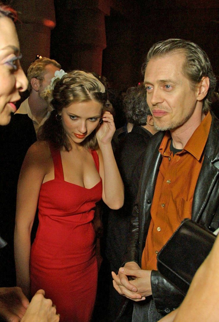 Scarlett Johansson and Steve Buscemi. I like his hair and beard in this. :-)