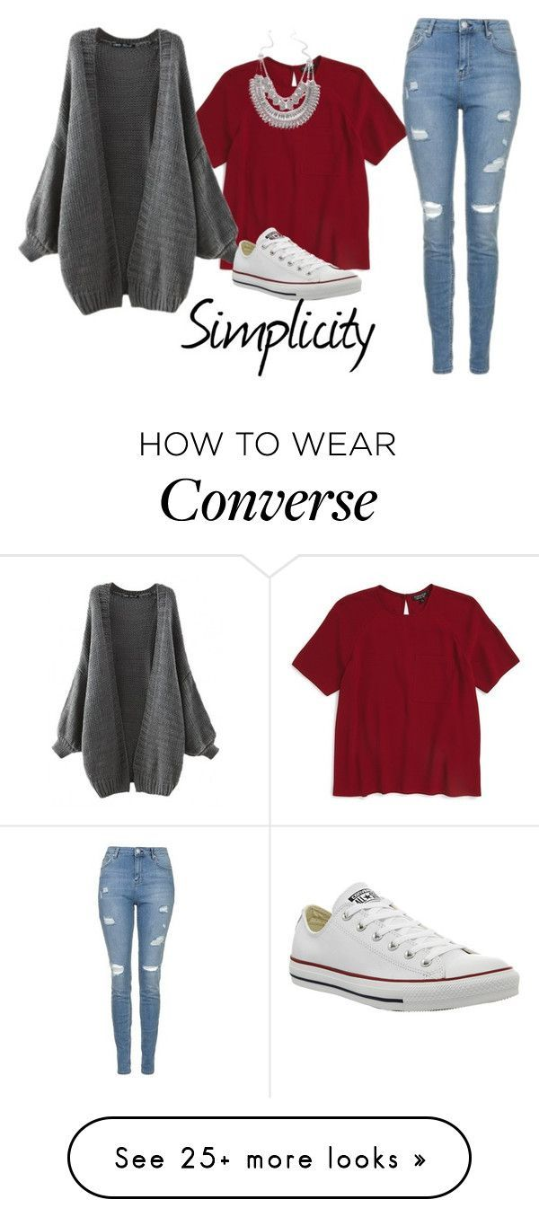 """Simplicity"" by mel2016 on Polyvore featuring Topshop and Converse"