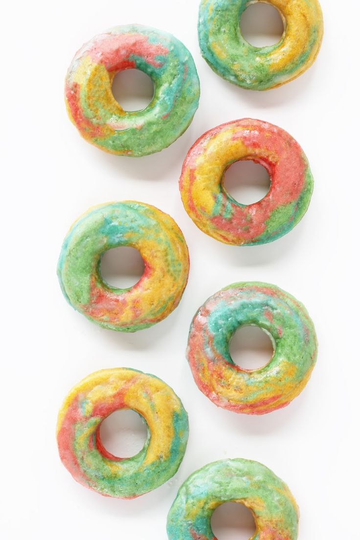 Tie Dye/Rainbow Marbled DonutsWeekend Round-Up!The 10 Best Food-Shaped Throw Pillows