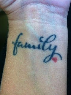 family heart tattoo | Girlie Tattoos | Pinterest