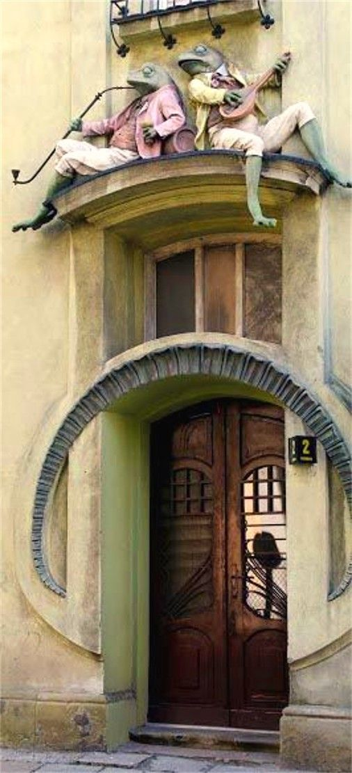 Magnificent door at an unknown location