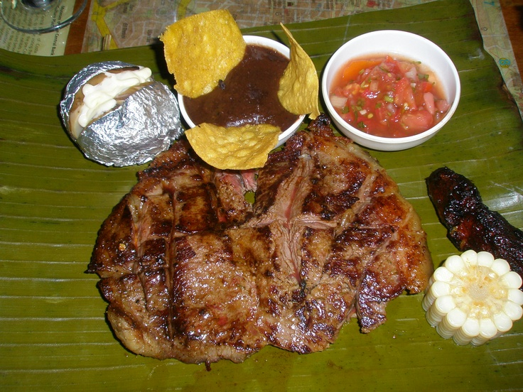 San Jose, Costa Rica: Traditional Costa Rican food is meat, beans and rice and a condiment of salsa.