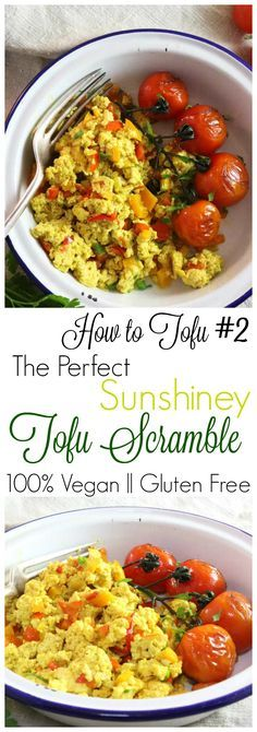 The perfect Tofu Scramble! Discover the yummiest, plant based way to eat a scramble. This recipe can be adapted so easily, is super quick to make and is 100% Vegan AND Delicious.