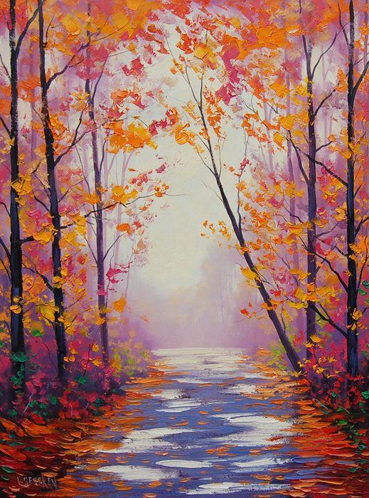 Contents of... off... - Красочная осень на картинах Graham Gercken