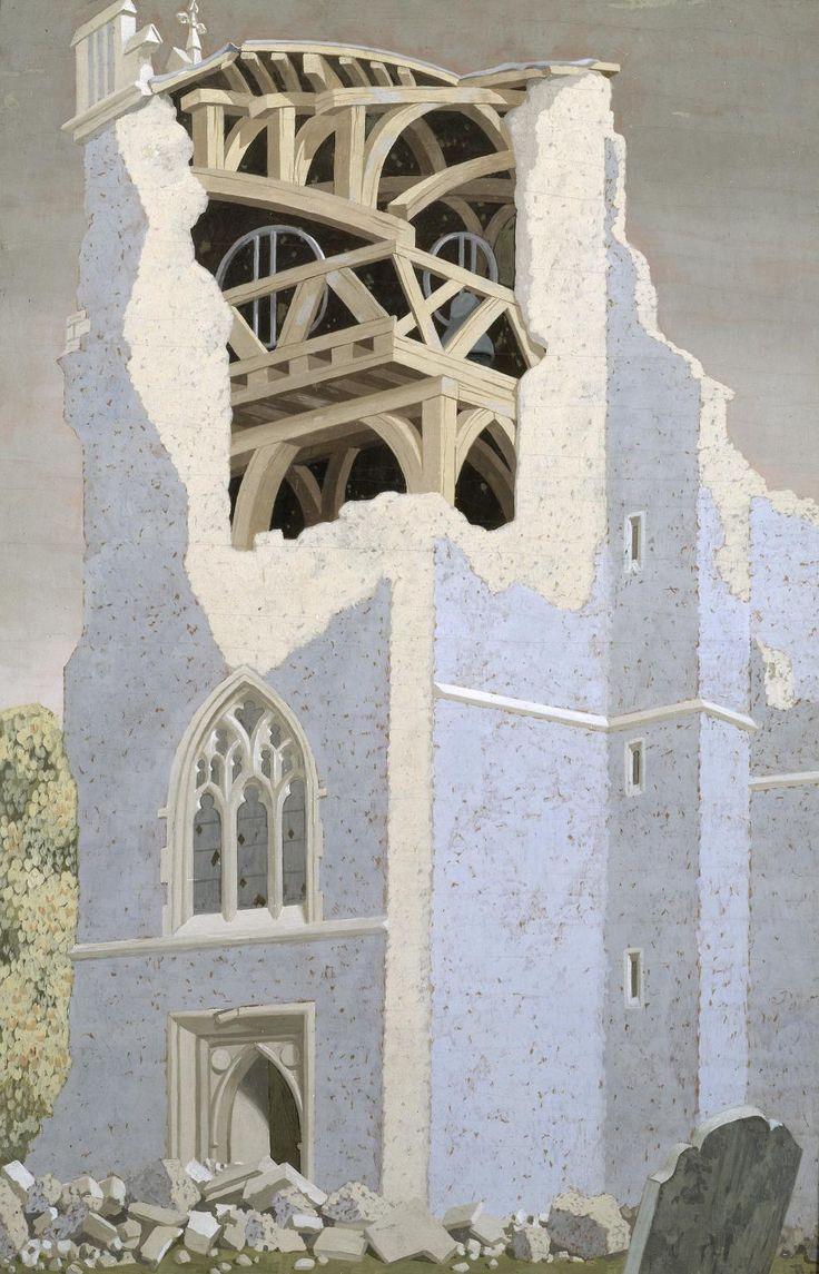 John Armstrong, 'Coggeshall Iglesia, Essex' 1940