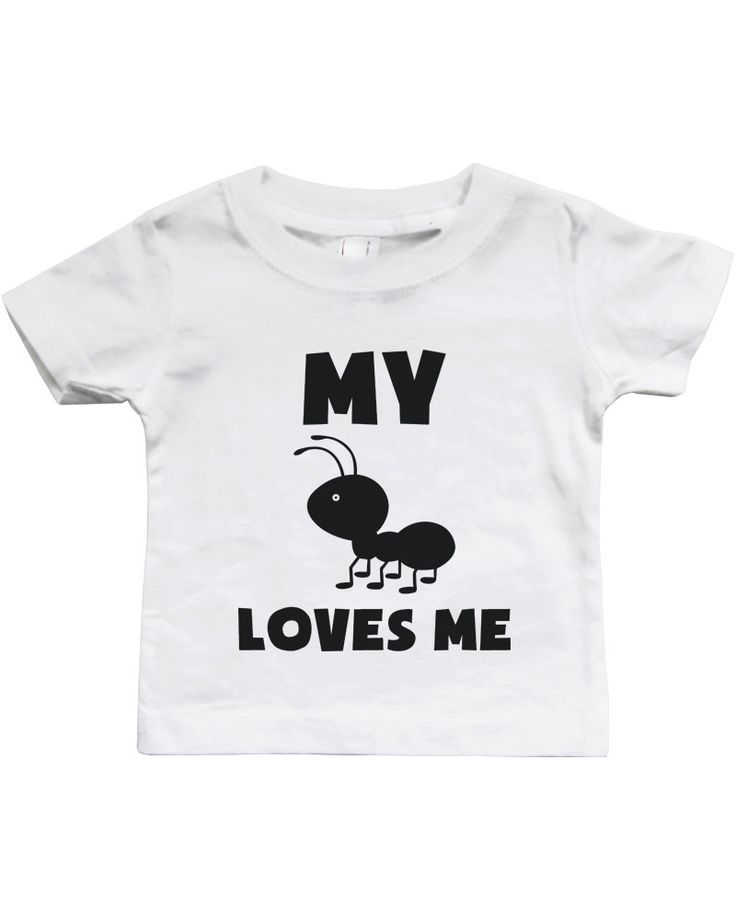 My Aunt Loves Me Funny Baby Shirts Gifts for Niece or Nephew Cute Infant Tees - 365INLOVE