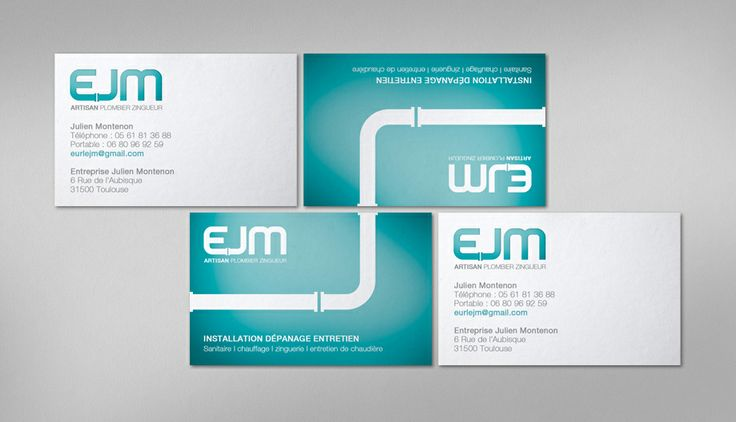 Identité visuelle / Card / EJM / Plombier by www.gloo-studio.com