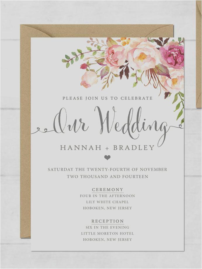 Print Invitations Online Free Printable Wedding Invitation