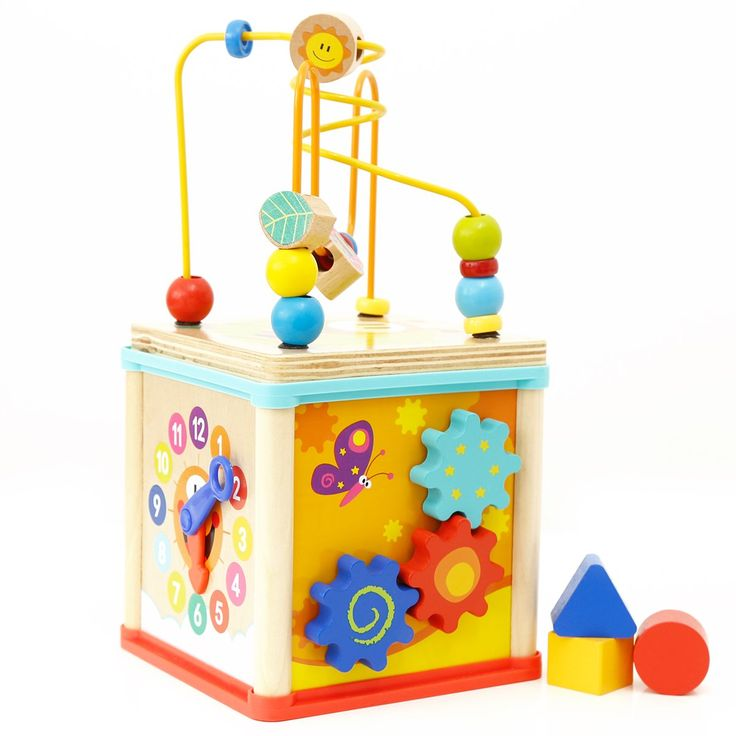 TOP BRIGHT Multifuncation Wooden Educational Activity Toys ...