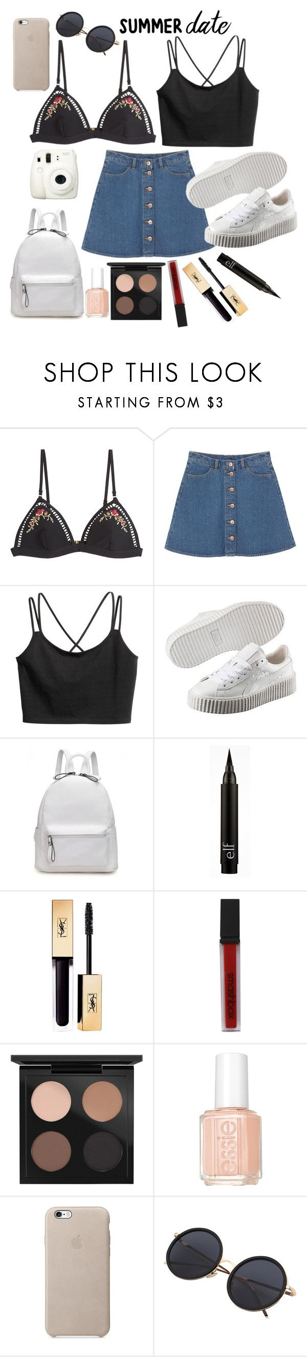 """Sin título #244"" by camilazeballo on Polyvore featuring moda, Zimmermann, Fuji, Monki, Puma, Smashbox, MAC Cosmetics y Essie"