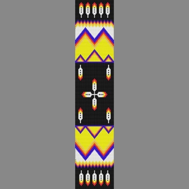 free beadwork patterns native american   This Native American Pattern Looks fanatstic On Regalia. Mountain Man ...