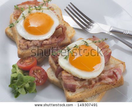 Egg and bacon sandwiches