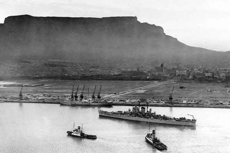 Cape Town Foreshore (1948): The foreshore is a large area of reclaimed land from Table Bay, and today includes the Cape Town Railway Station and Civic Centre. Even the Cape Town International Convention Centre was once part of the bay.