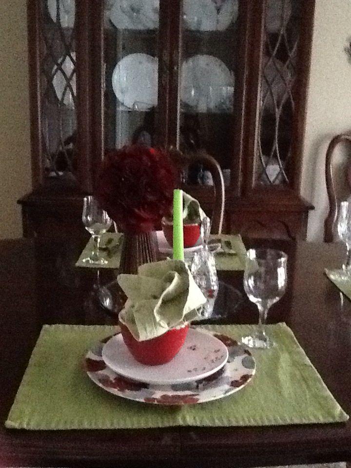 Red & Lime Green Formal Set