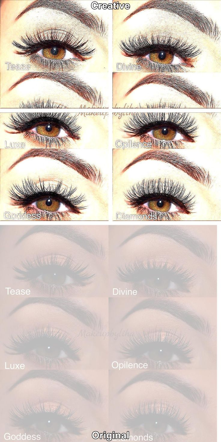 Natural Fake Eyelashes Semi Permanent Eyelash Extensions