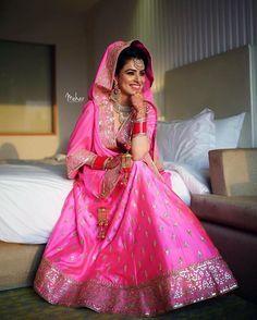 Ishleen on her wedding day, Amritsar 2016. Shot by @sonuramgharia #bridesofmehar #beautifulbrides #indianwedding #weddingsutra #weddingday #indianbride #meharbride