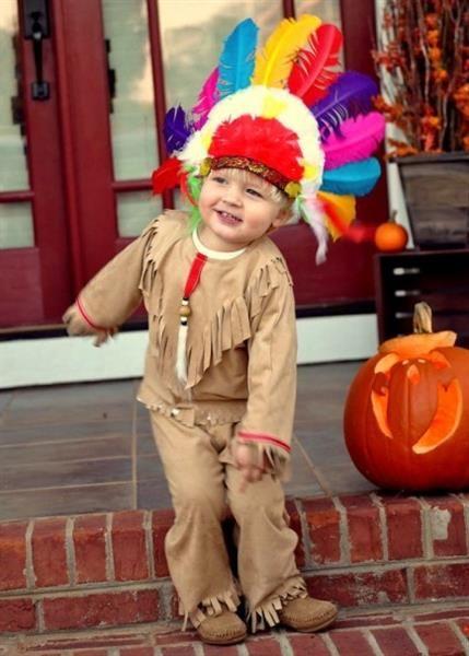 Самодельные детские костюмы индейца